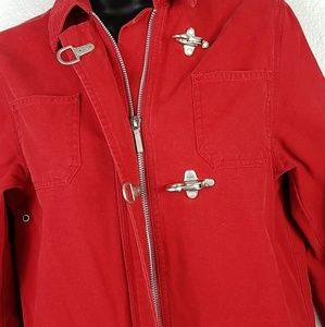 1967 Lauren USRL Red Clasp Mariner Zip Jacket Sm